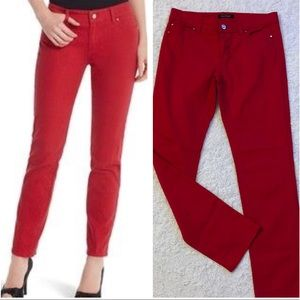 Like New WHBM Red Slim Leg Skinny Jeans Size 4
